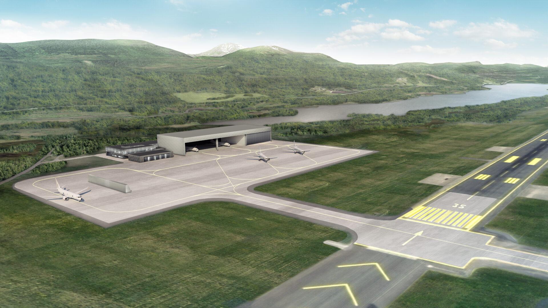 MPA området for de militære overvåkningsflyene